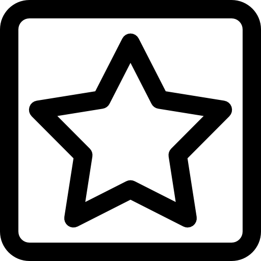 Star In Square Icons Free Download
