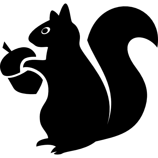 Squirrel With Acorn Icons Free Download
