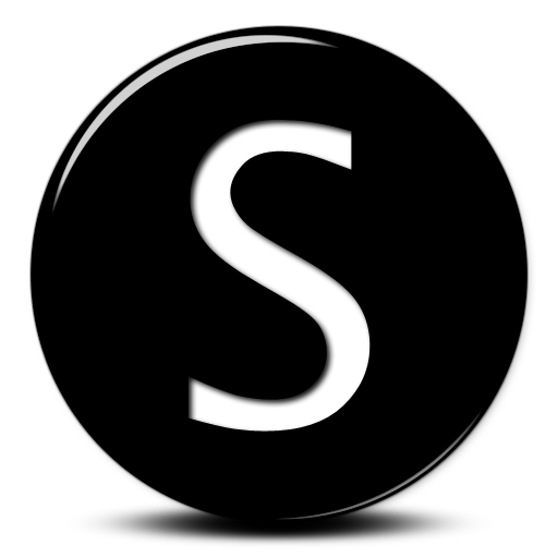Capital Letter S Beautiful Black Lettering, S Icon