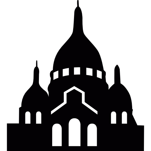 Basilica Of The Coeur In Montmartre, Paris Icons Free Download