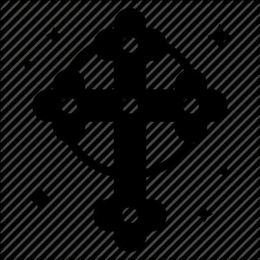 Christ, Cross, Orthodox, Saint Patrick Icon