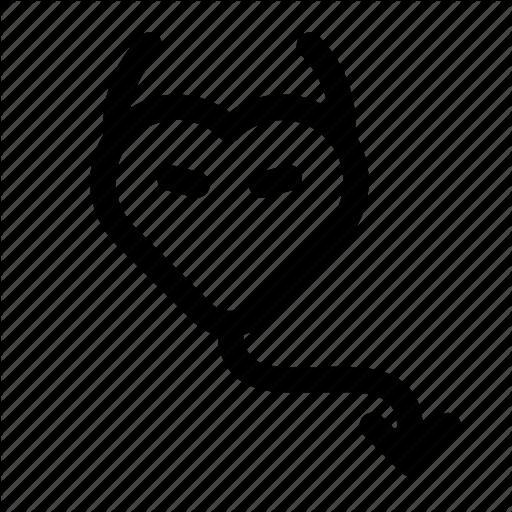 Demon, Devil, Heart, Love, Lovely, St Valentine's Day, Valentine Icon