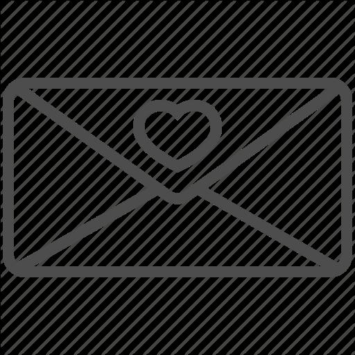 Envelope, Heart, Love, Message, Saint Valentine, Valentine's Day Icon