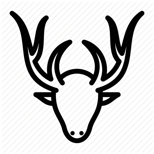 Animal, Deer, Stag Icon