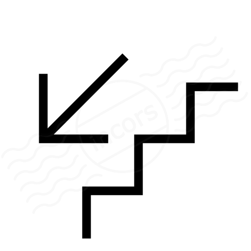 Iconexperience I Collection Stairs Down Icon