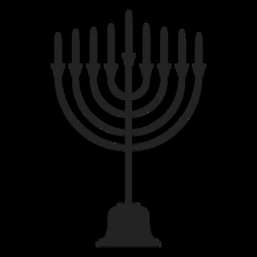 Hanukkah Menorah Candle Stand Icon