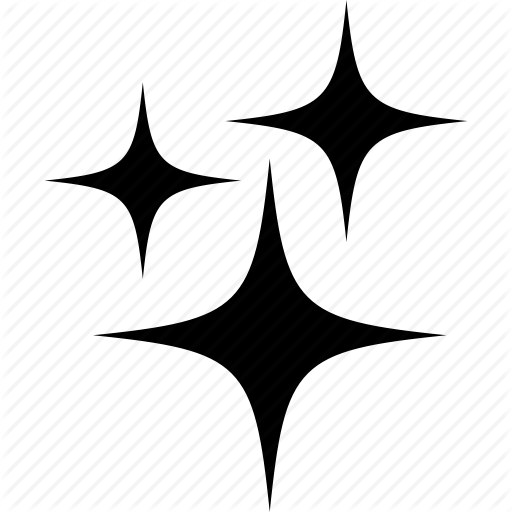 Bright, Four, Pointed, Sparks, Star Icon