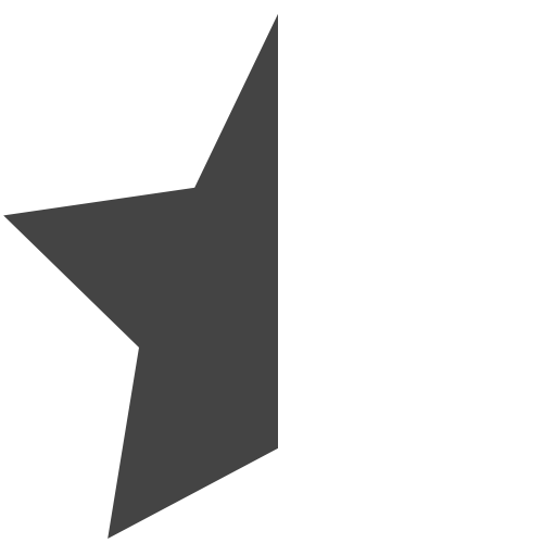 Left, Half, Star Icon Free Of Vaadns