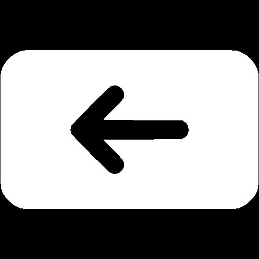 White Backspace Icon
