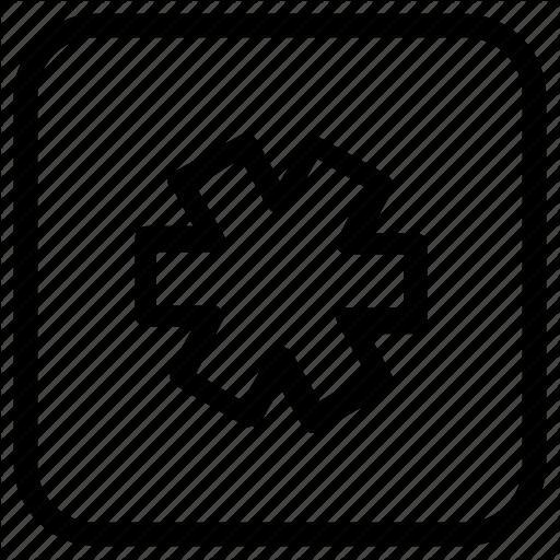 Function, Key, Star Icon