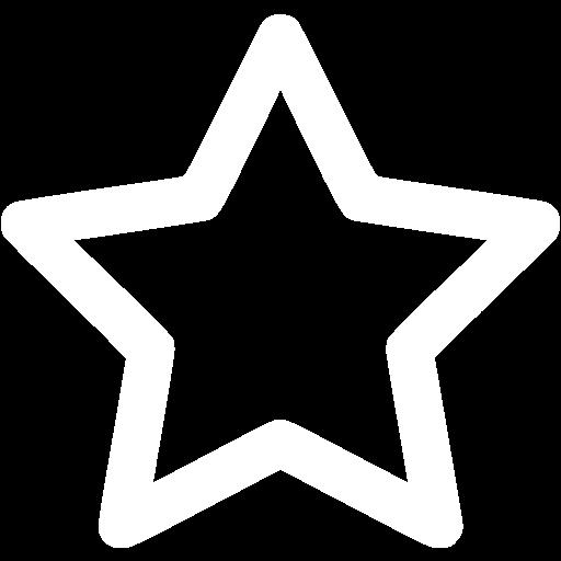 White Outline Star Icon