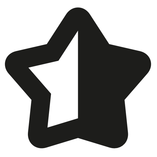Half Black Half White Star Symbol Download Free Icons