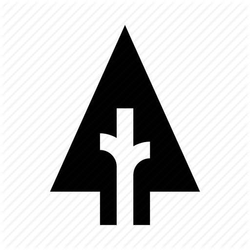 Forest, Nature, Plant, Tree, Triangular Icon