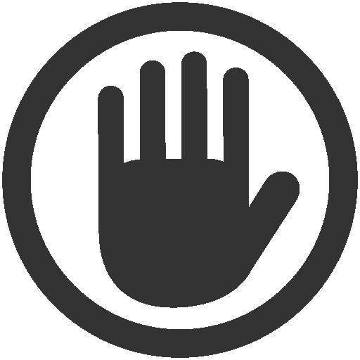 Private, Stop Icon