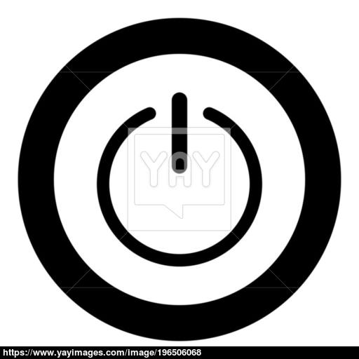 Button Turn On Or Off Icon The Black Color Icon In Circle Or Round
