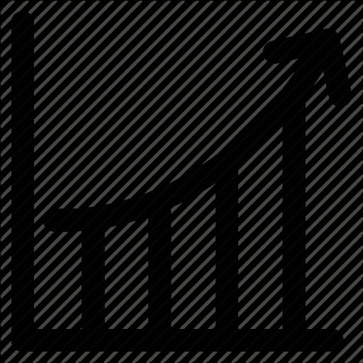 Arrow, Ascending, Progress, Progress Bar, Up Icon