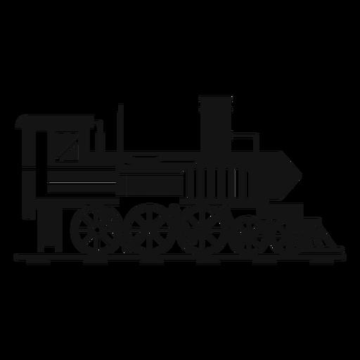Steam Locomotive Pilot Silhouette