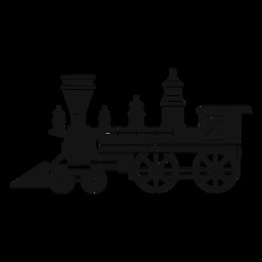 Steam Locomotive Silhouette