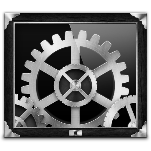 Grey Steampunk System Preferences Icon