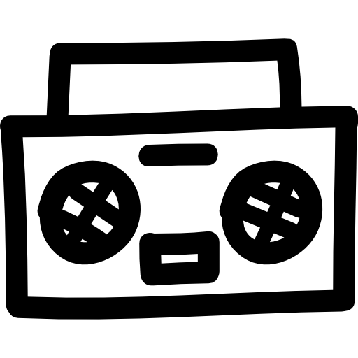 Stereo Hand Drawn Audio Tool Icons Free Download