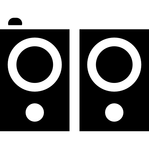 Stereo Speakers Musical Tools Icons Free Download