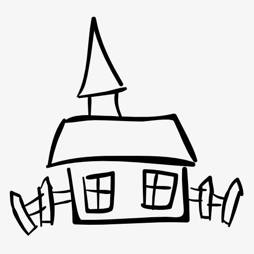 Stick Figure House, Stick Figure, House Icon, Monochrome House Png