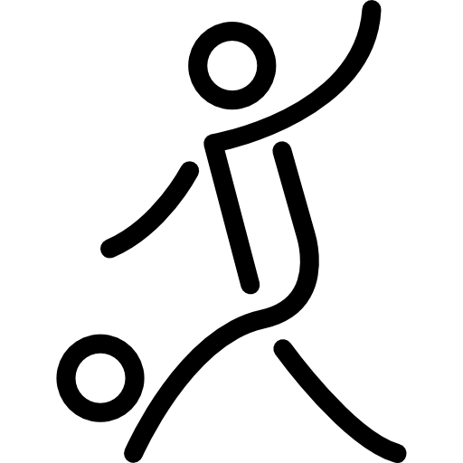 Stick Man Playing Soccer Icons Free Download