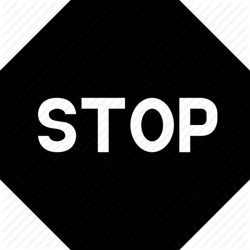 Pause, Play, Sign, Stop, Stop Sign Icon