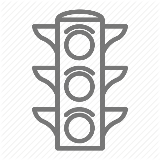 Drive, Intersection, Stop, Stop Light, Traffic Light Icon