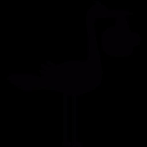 Birth, Baby, Stork Icon