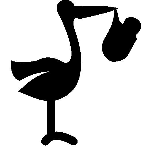 Baby Stork With Bundle Icon Windows Iconset