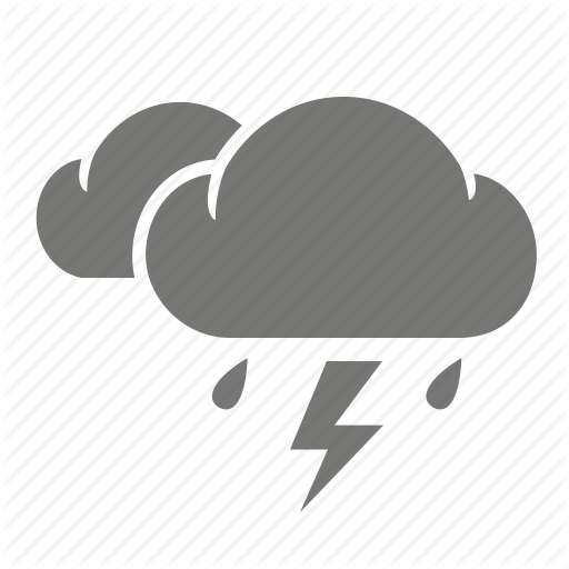 Cloud, Lightning, Meteorology, Rain, Rainy, Thunder, Thunderbolt Icon
