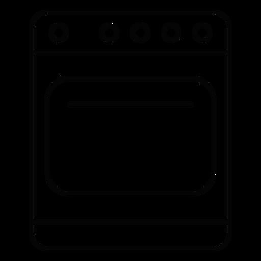 Kitchen Stove Stroke Icon