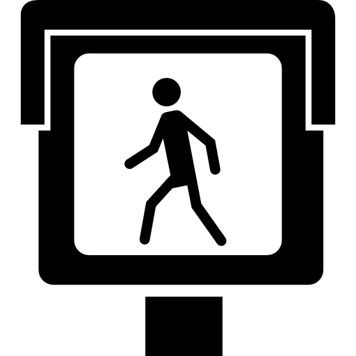 Luminous Street Walker Signal Icons Free Download