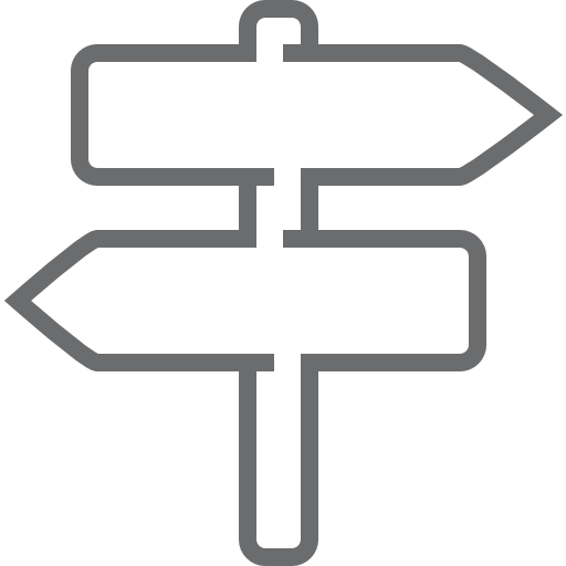 Road, Sign, Two, Way Icon Free Of Outline Icons