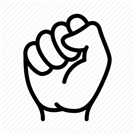 Fist, Hand, Power, Protest, Rally, Revolution, Strength Icon
