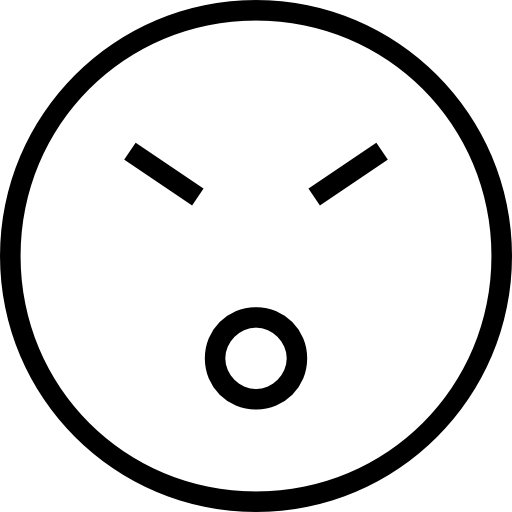 Emoticon Stroke Face With Closed Eyes And Opened Mouth