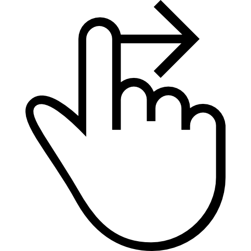 One Finger Swipe Right Gesture Of Hand Stroke Symbol Icons Free