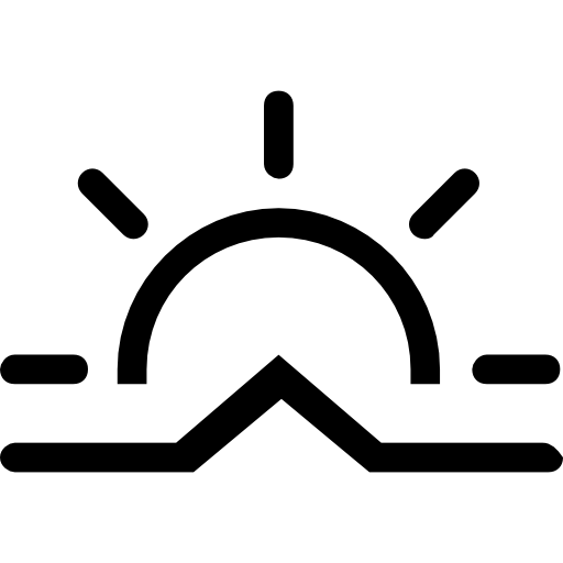 Sunrise Stroke Weather Symbol
