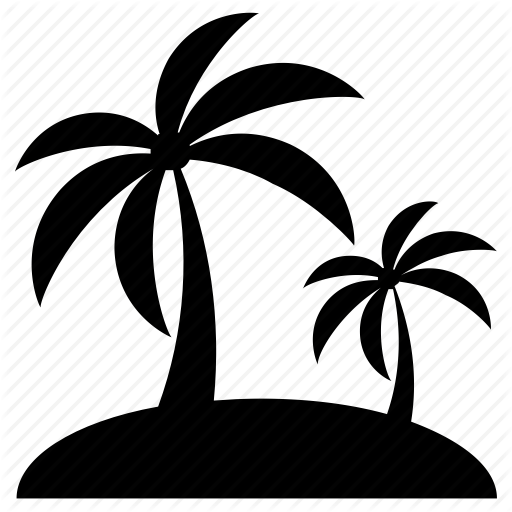Palm Trees, Paradise, Summer, Summer Vacation, Tropical Island Icon