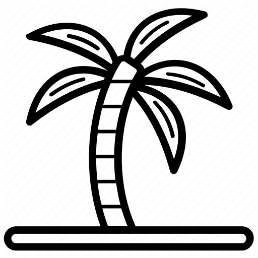 Bay, Beach, Island, Tropical Area, Tropical Island Icon