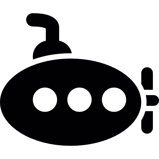 Oval Shaped Submarine Icons Free Download