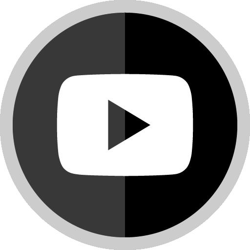 Free Youtube Play Button Silver Round Social Media Icon