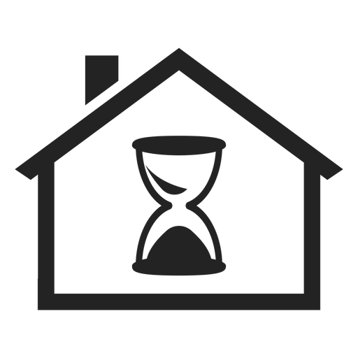 Home With An Hourglass Icon