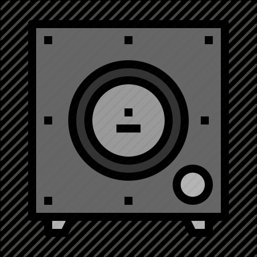 Bass, Music, Speaker, Subwoofer Icon