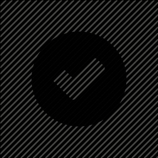 Checked, Circle, Ok, Success Icon