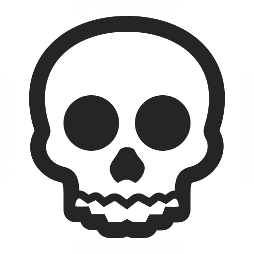 Pictures Of Skull Icon Black