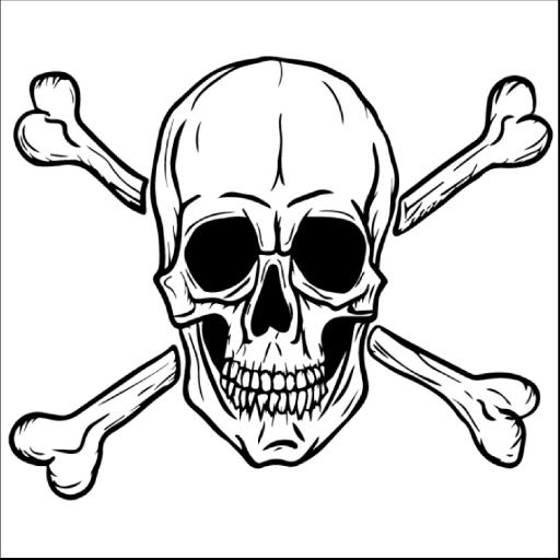 Skull And Cross Bones Skull Pirate Skull Tattoos, Airbrush
