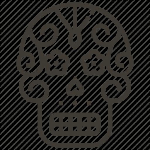 Bone, Mex Skull, Sugar Skull Icon
