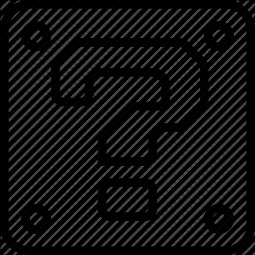 Black Question Mark In Box
